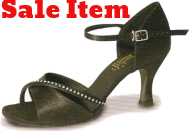 Dominique Black Satin Ladies Ballroom Latin Dance Shoes Size 5 only left