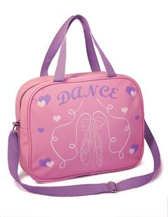 LittleB Dance Bag Satchel/Shoulder Strap with Ballet design - Pink