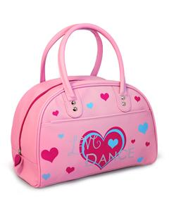 Pink Dance Bag with Love Dance and Heart on front