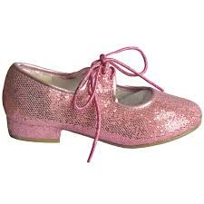 Pink Glitter Sparkle Low Heel Tap Dance Shoes