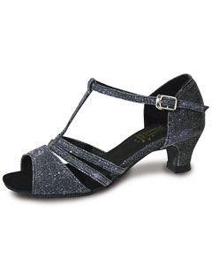 EVIE - Roch Valley Black Sparkle Ladies Ballroom Latin Shoes