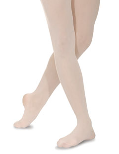 Roch Valley BL40 Soft Support Full Footed Ballet Dance Tights, Pink, White or Black