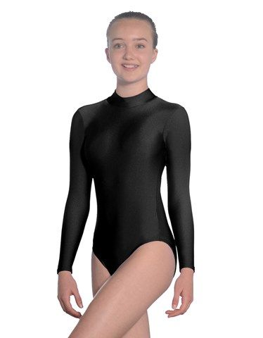 ROCH VALLEY Girls Long Sleeve Turtle Neck Ballet/Dance Leotard with Keyhole Back Style 2008