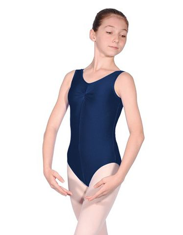 Roch Valley Girls Sheree Nylon/Lycra Shiny Ballet/Dance Leotard Sleeveless with Ruche Front