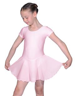 Roch Valley  RV2383 Roch Valley  Short Sleeved Ballet Dance Leotard with Georgette Skirt attached