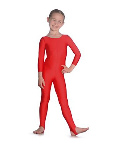 Roch Valley Scoop Neck Long Sleeved Nylon, Lycra Catsuit, L109 for Dance, Jazz, Tap Various Colours