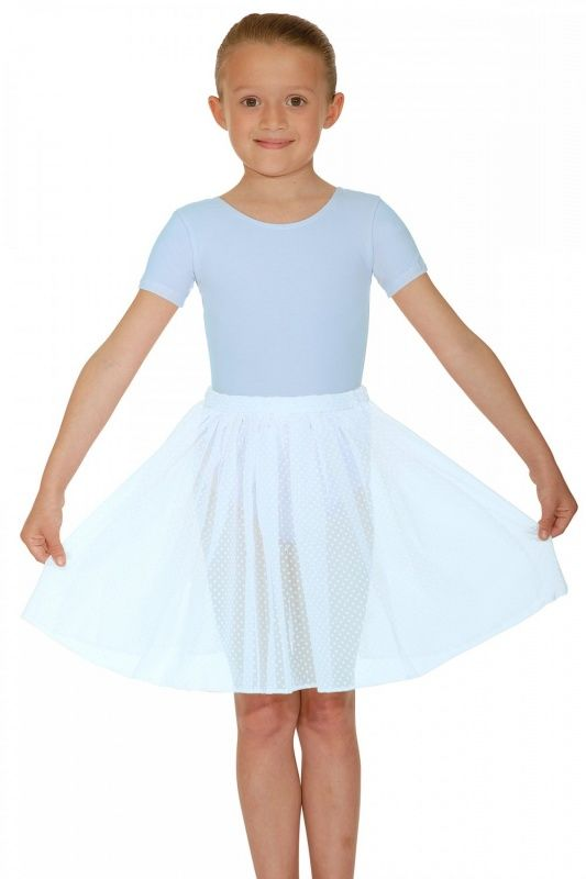 Voile Circular Spotted Ballet Dance Skirt Elasticated Waist